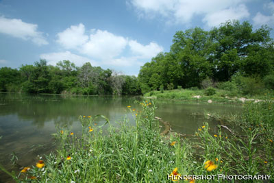 This is a picture of the juncture of the Sabinal River with Ranchero Creek. With 4 miles of river running through it, the 'River Pasture' provides some of the best hog hunting, turkey hunting and deer hunting on the ranch- some of the best fair chase bowhunting in South Texas, at affordable prices! Book your next South Texas bowhunt at Brushy Hill Ranch!